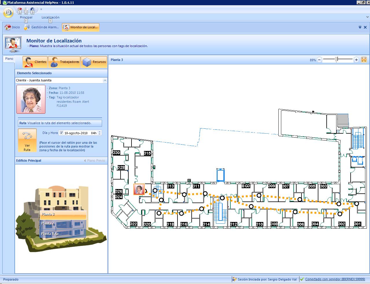 sistemas de control geriatrico localizacion