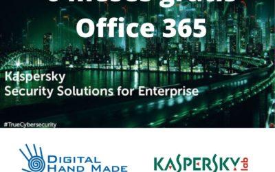Oferta conjunta con Kaspersky regalando 6 meses de protección para Microsoft Office 365